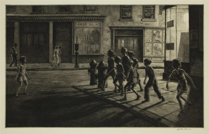 Gravuras de Martin Lewis Gangue de rua de bedford