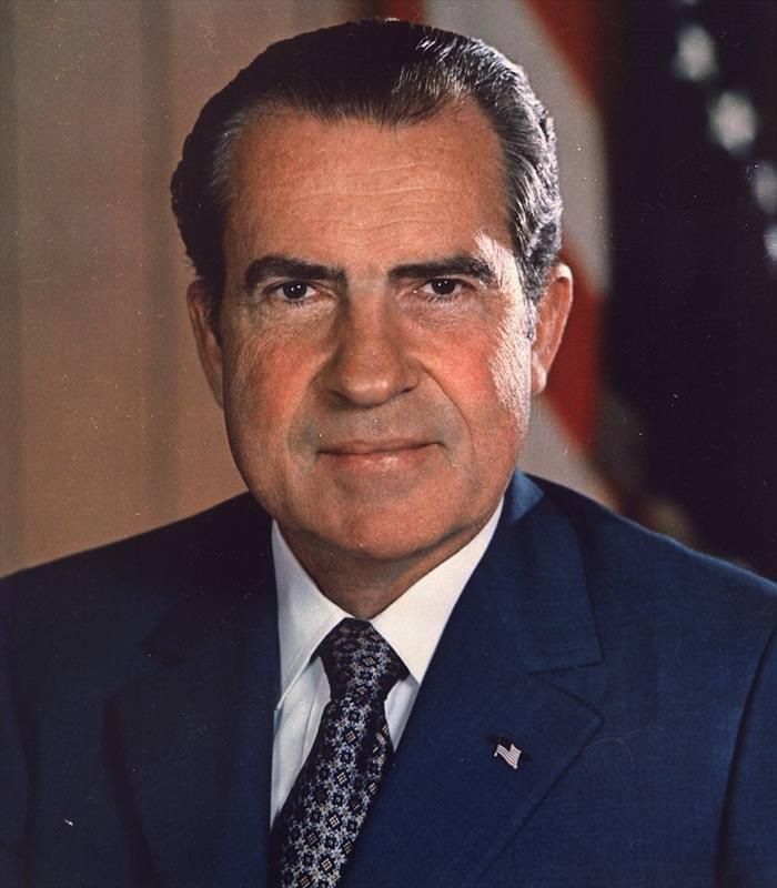 Coisas da década de 70 Richard Nixon