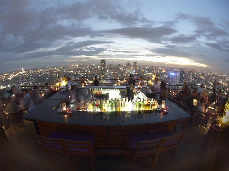 Bares Azotea Vértigo y Moon Bar, Bangkok