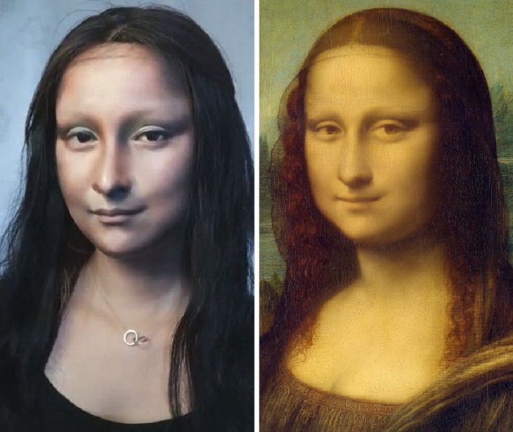 He Yuhong Makeup Transformation Mona Lisa