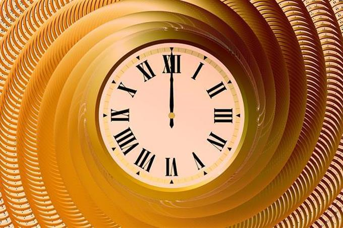 gold clock concept