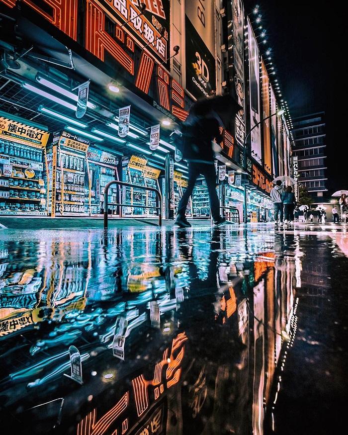 Imagens de Tóquio à noite