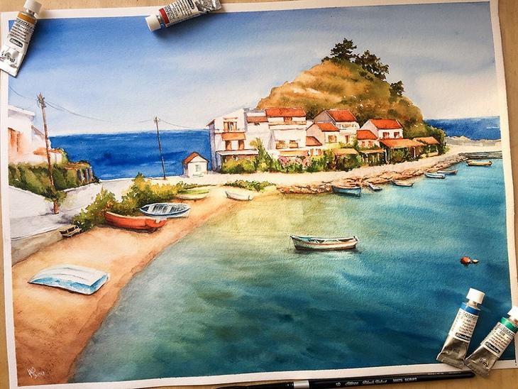 pinturas em aquarela