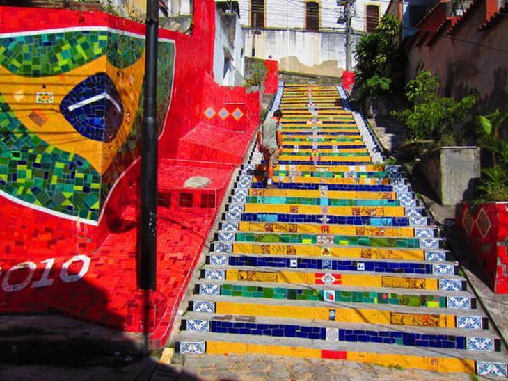 arte na escada