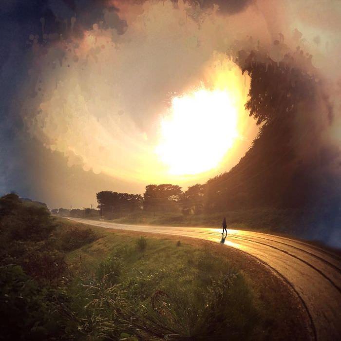 Mississipi em imagens de iPhone estrada iluminada