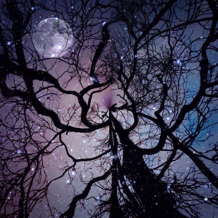 Mississipi em imagens de iPhone lua cheia