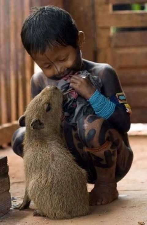 Crianças de Várias Culturas-menino com bichinho