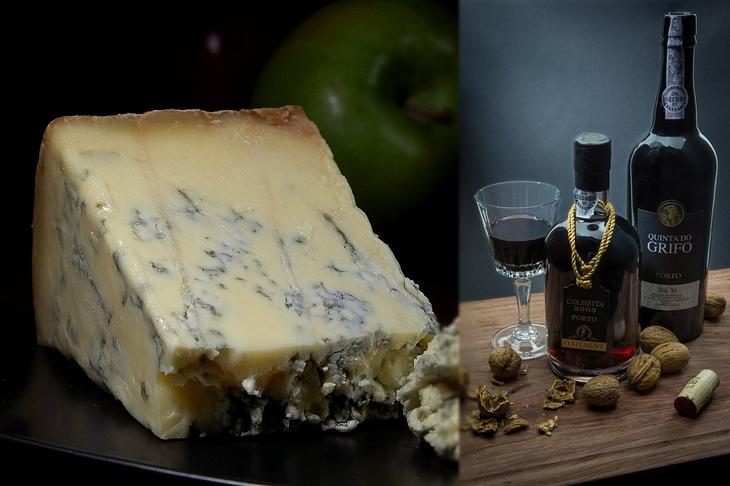 Como Combinar perfeitamente queijos e vinhos - Queijos azuis e porto