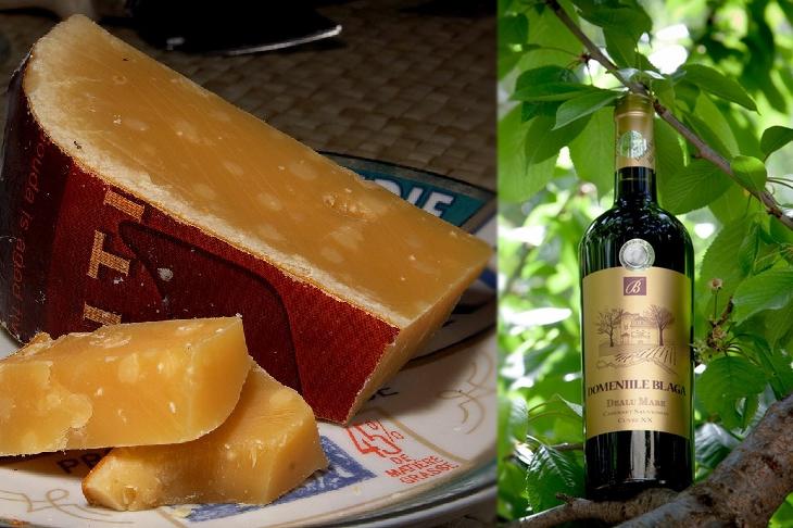 Como Combinar Perfeitamente Queijos e Vinhos - Gouda maturado e Cabernet Sauvignon