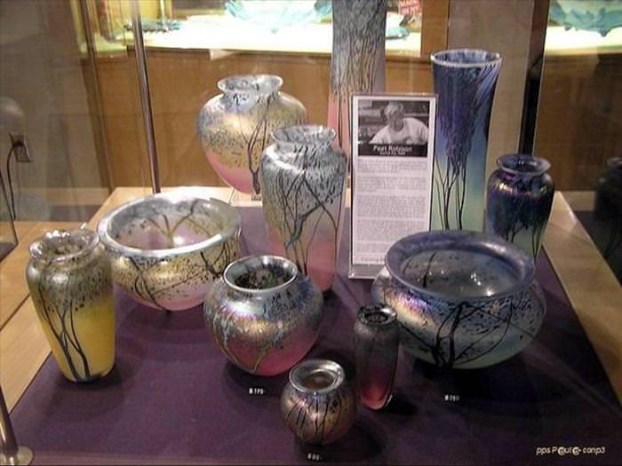 Coleção do Museu do Cristal de NY - objetos de cristal