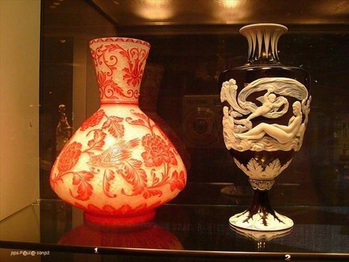 Coleção do Museu do Cristal de NY- objetos de cristal