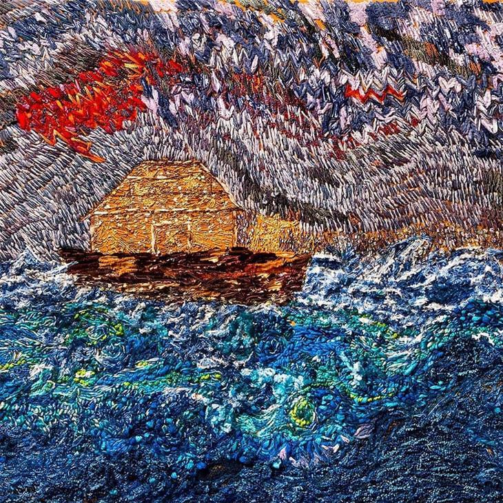 Bordando em família arca de noé