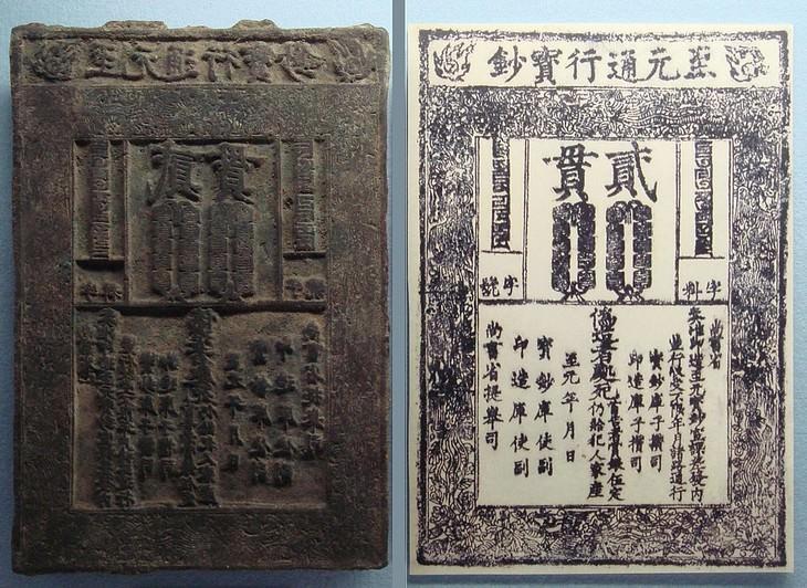 Invenções chinesas - dinheiro de papel