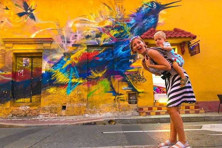 Arte de rua Cartagena, Colombia.
