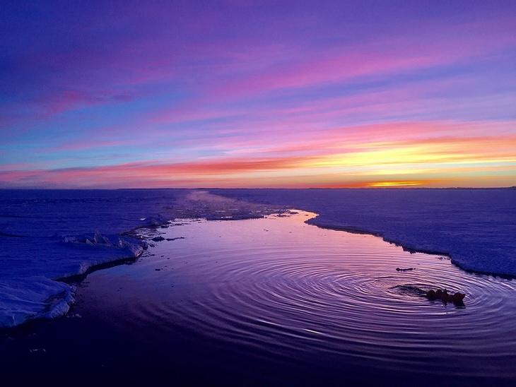 2º lugar categoria Pôr do Sol, , Shirley Xu da China - Pôr do sol no mar Báltico (feitano mar Báltico)