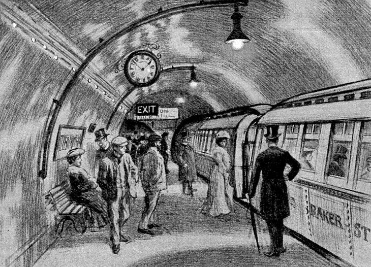 Invenções Vitorianas  trem subterrâneo