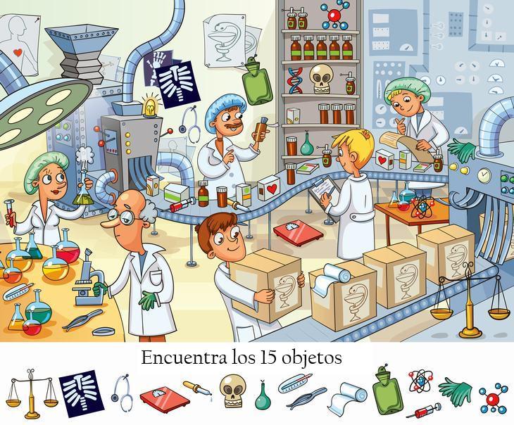 Objetos Ocultos En Imagen Laboratorio