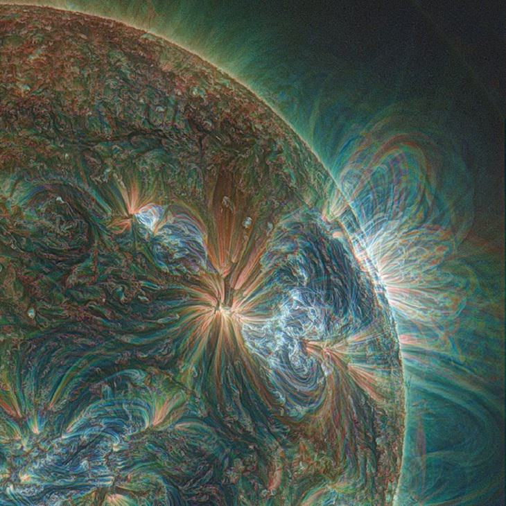Rare Pictures sun from a UV Lens by NASA