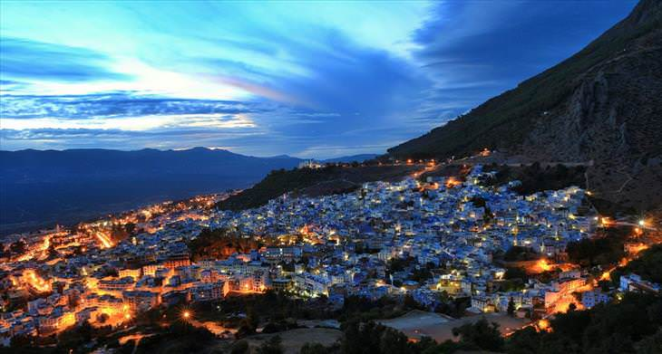 Chefchaouen, blue, city, travel