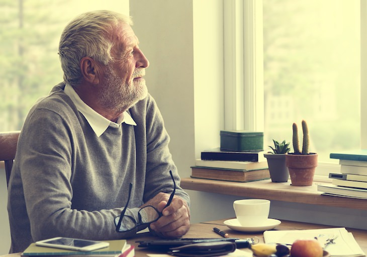 5 Practical and Easy Ways to Express Gratitude, elderly man pensive