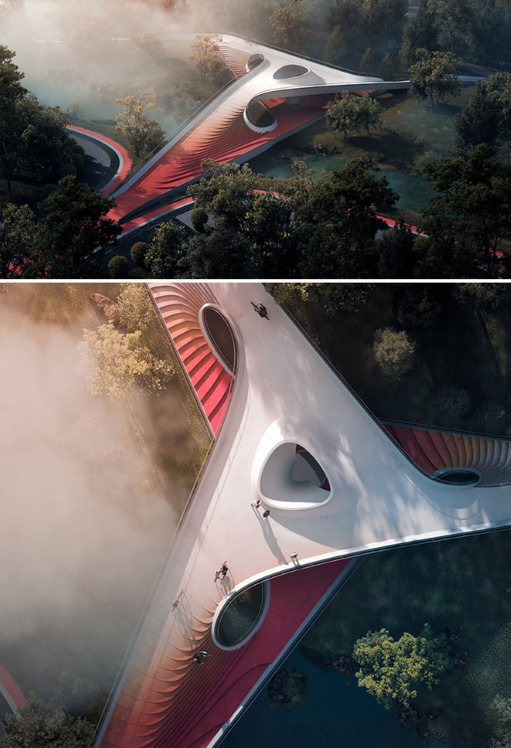 15. Melhor Projeto de Arquitetura de Transporte: Ponte Pirouette de Guang Xu, Dandan Wang