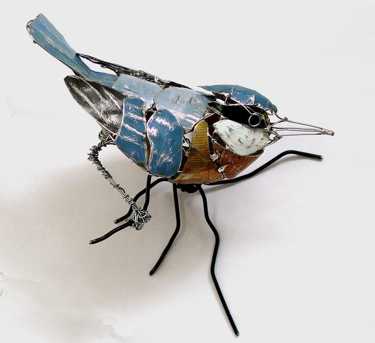 Belas esculturas de animais feitas de sucata reciclada por Barbara Franc