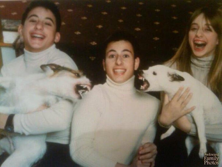 Fotobombas natalinas de família