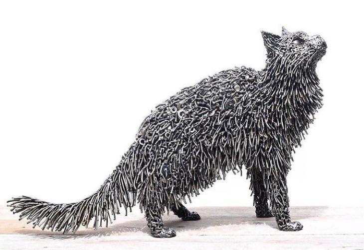 Esculturas de metal de Brian Mock