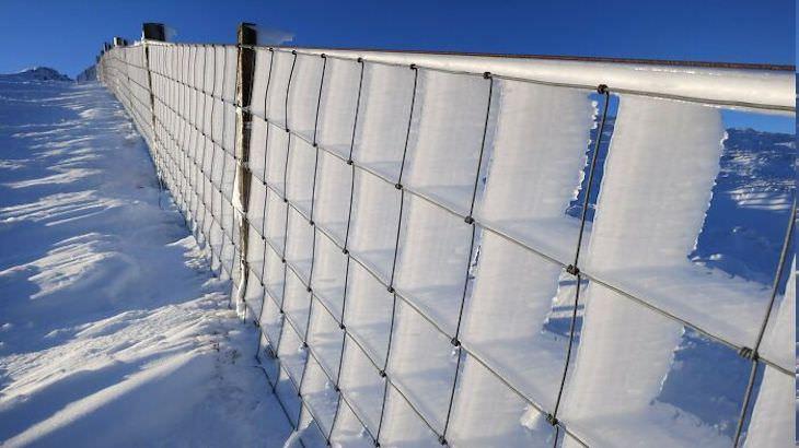 Impressionantes esculturas acidentais de neve