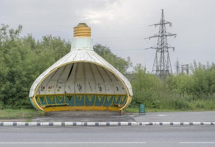 Arquitetura das paradas de Ónibus da era da URSS
