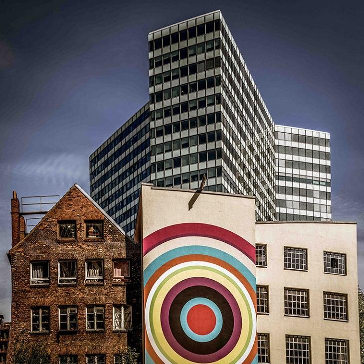 Beleza dos edifícios  mistura colorida