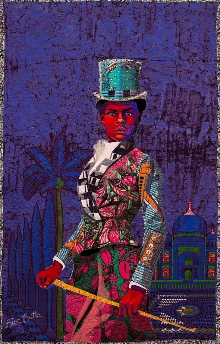 """A arte do quilt afro-americano """"O Cavaleiro"""""""