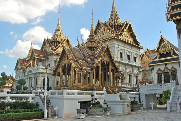 Residências Reais Grande Palácio em Bangkok, Tailândia