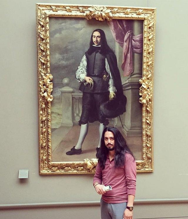 O doppelganger ou sósia de pessoas no museu