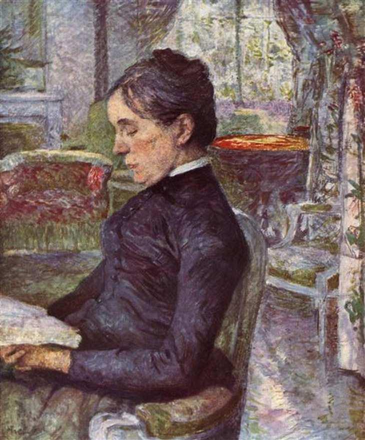 Retrato da Condessa A. de Toulouse-Lautrec, óleo sobre tela, 1886