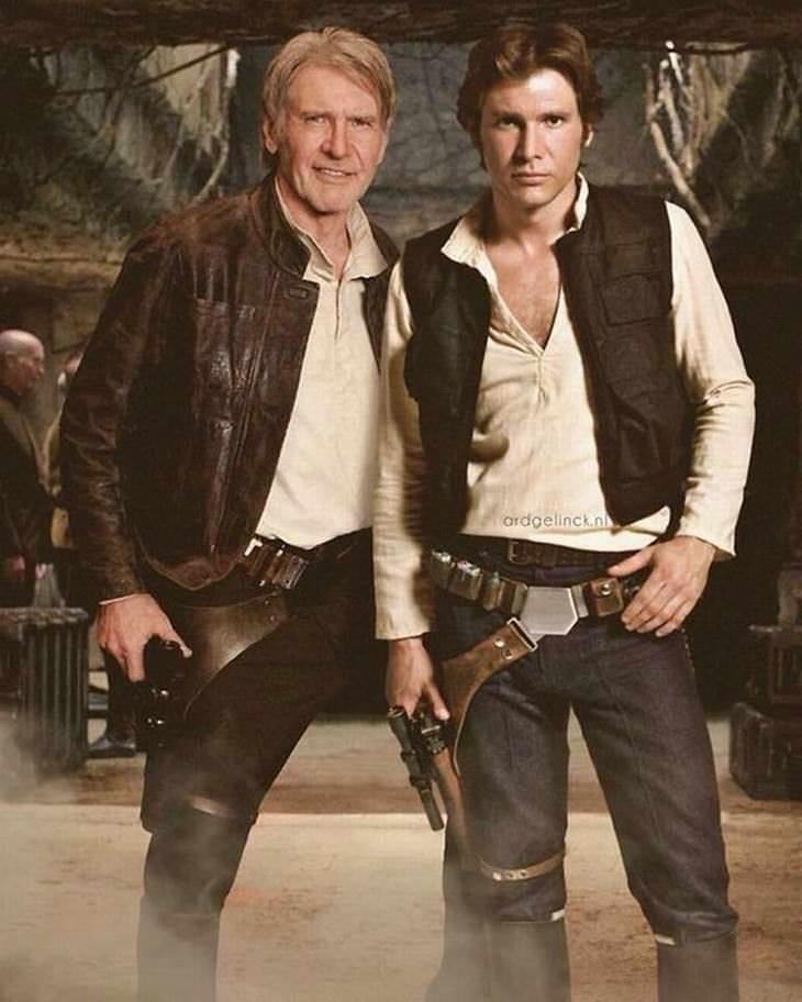 Famosos em versão juvenil Harrison Ford