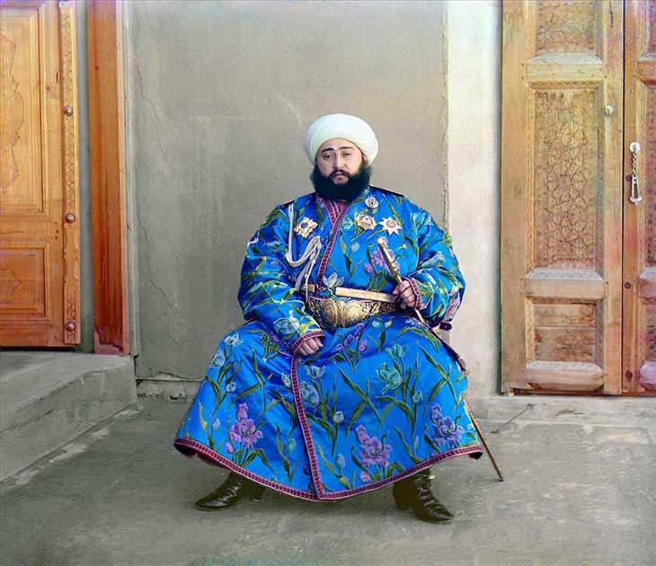 Veja a Rússia do tempo do último Czar Oemir de Bukhara, Alim Khan