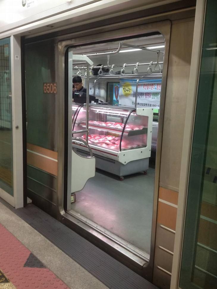 IImagens divertidas que se vê no metrô