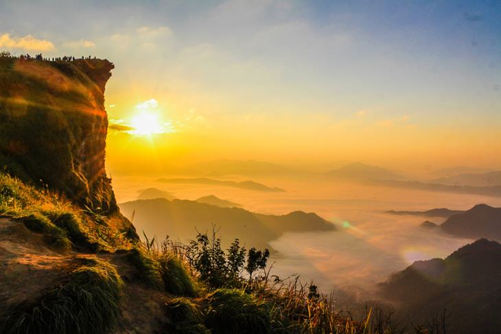 Fatos sobre as cores - paisagem com sol