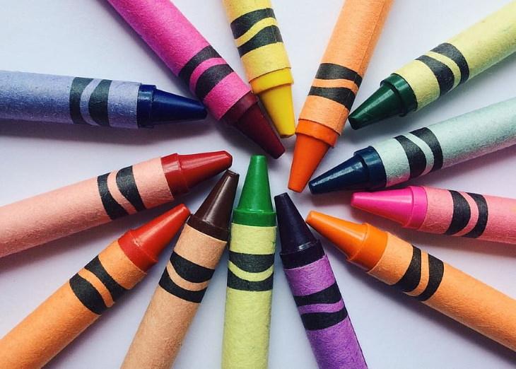 Fatos sobre as coresr Crayola crayons