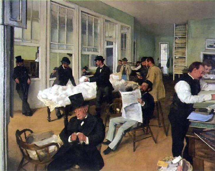 Um escritório de algodão em Nova Orleans, 1873, de Degas