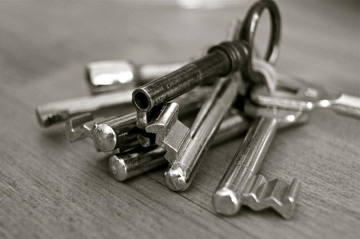 Desinfeccção diária  chaves da casa