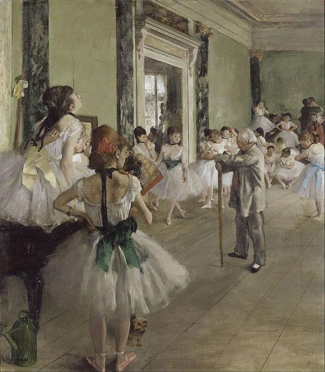 Edgar Degas, A aula de dança(La Classe de Danse), 1873–1876