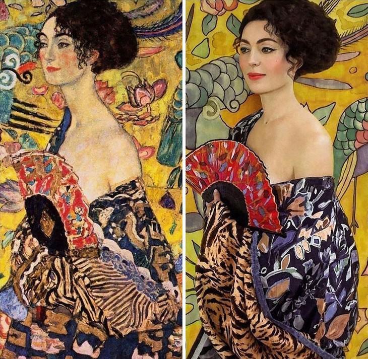 Senhora com leque, de Gustav Klimt