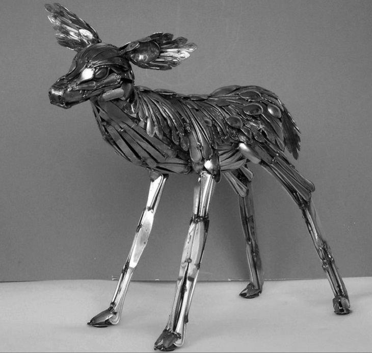 Um cervoem pé