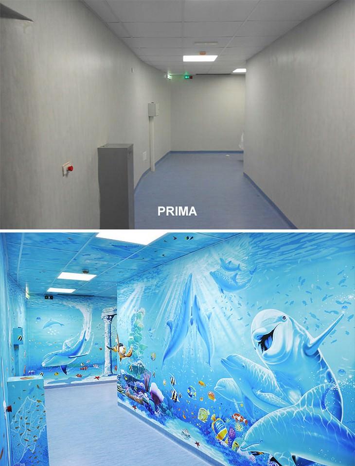 Artista Silvio Irilli transforma unidades hospitalares em murais
