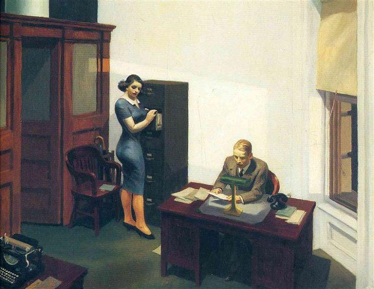 Escritório à noite, 1940, Edward Hopper