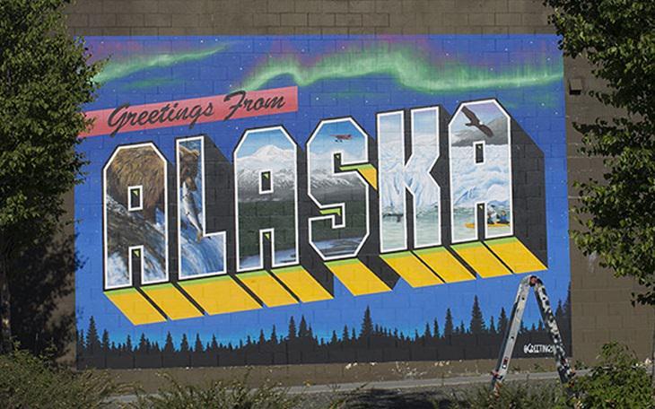 TFascinantes e coloridos murais em estados dos EUA