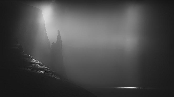 2019 Monochrome Photography Competition, Grande Prêmio: Descoberta Monocromática do Ano - Amador O Dedo da Feiticeira Huibo Hou, dos Estados Unidos