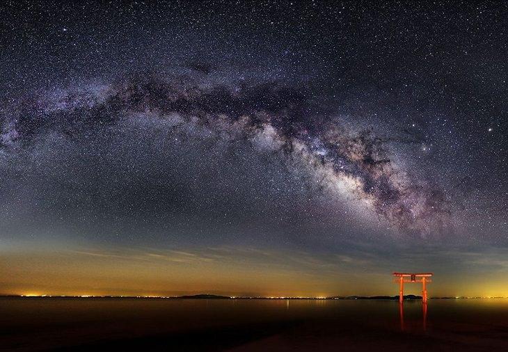 Nori Yuasa, céu noturno Via Láctea